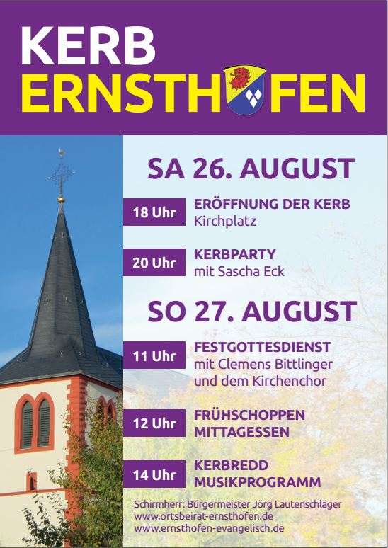 Plakat Kerb - Kerb Ernsthofen 2017