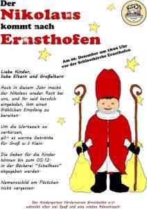 Nikolaus kommt nach Ernsthofen 2018
