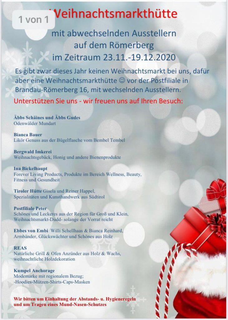 2 731x1024 - Die Weihnachtsmarkthütte in Brandau